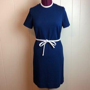 Vintage 60s/70s Navy White A Line Go Go Dress